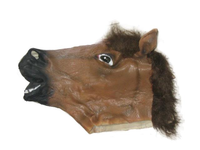 latex horse masks