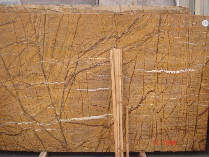 Rainforest Marble Slab : China rainforest brown marble slabs yellow