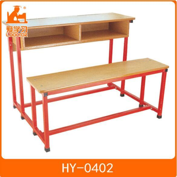 Attached Student Table and Chair of School Furniture