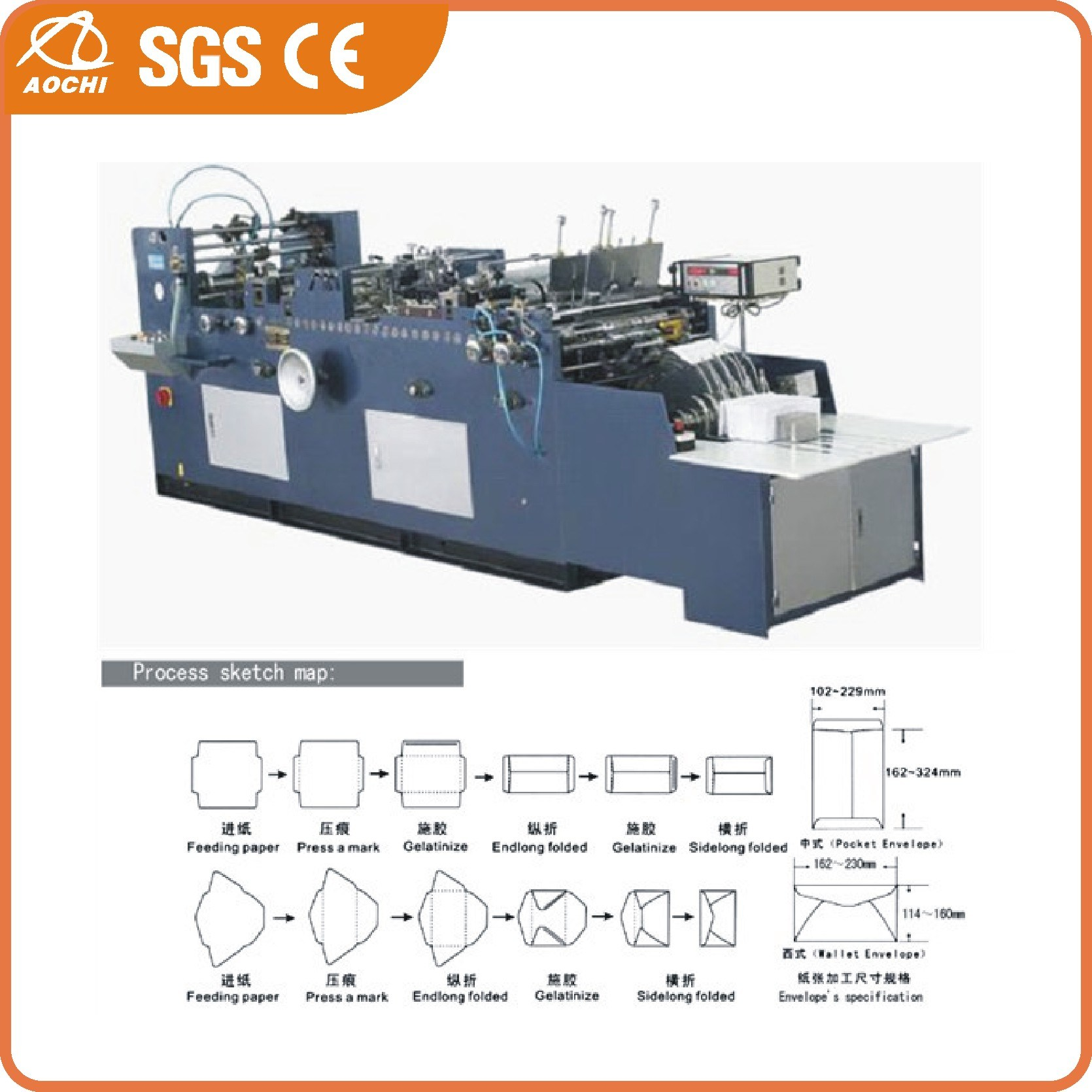 Full Automatic A4 Envelope and Paper Bag Making Machine (ACXF-408)
