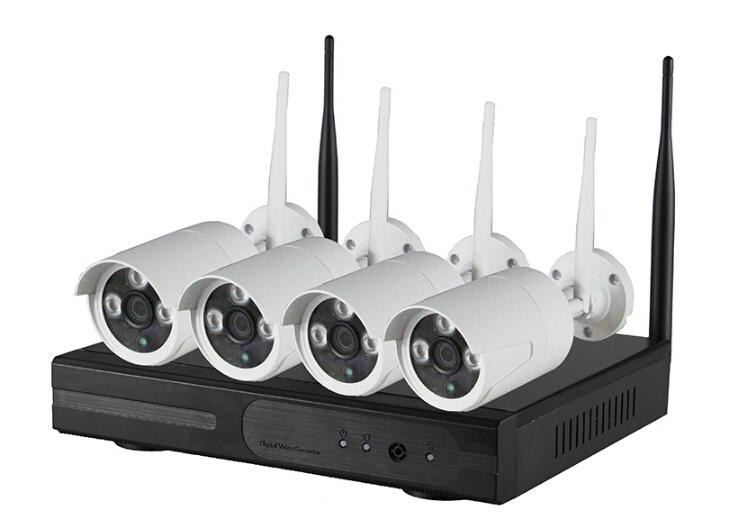 4CH SD Card P2p Wireless WiFi Surveillance NVR Kits