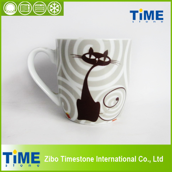 Cartoon Design Pretty Ceramic Cat Mug (82505)