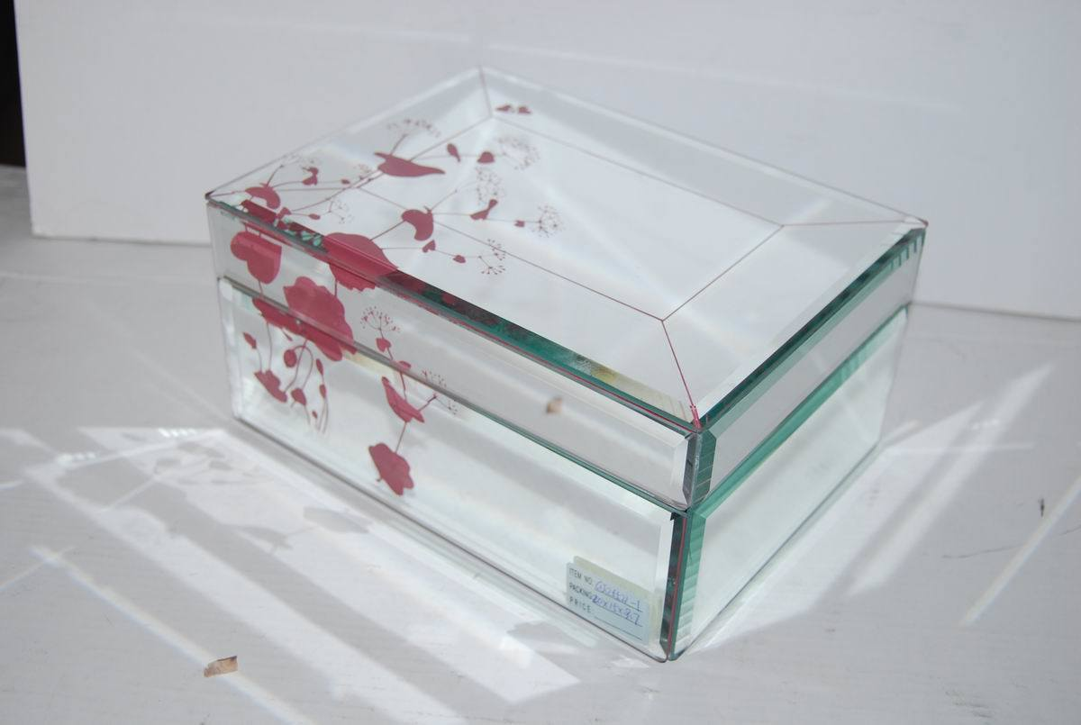 China glass mirror jewelry box 2 china glass mirror for Mirror jewelry box