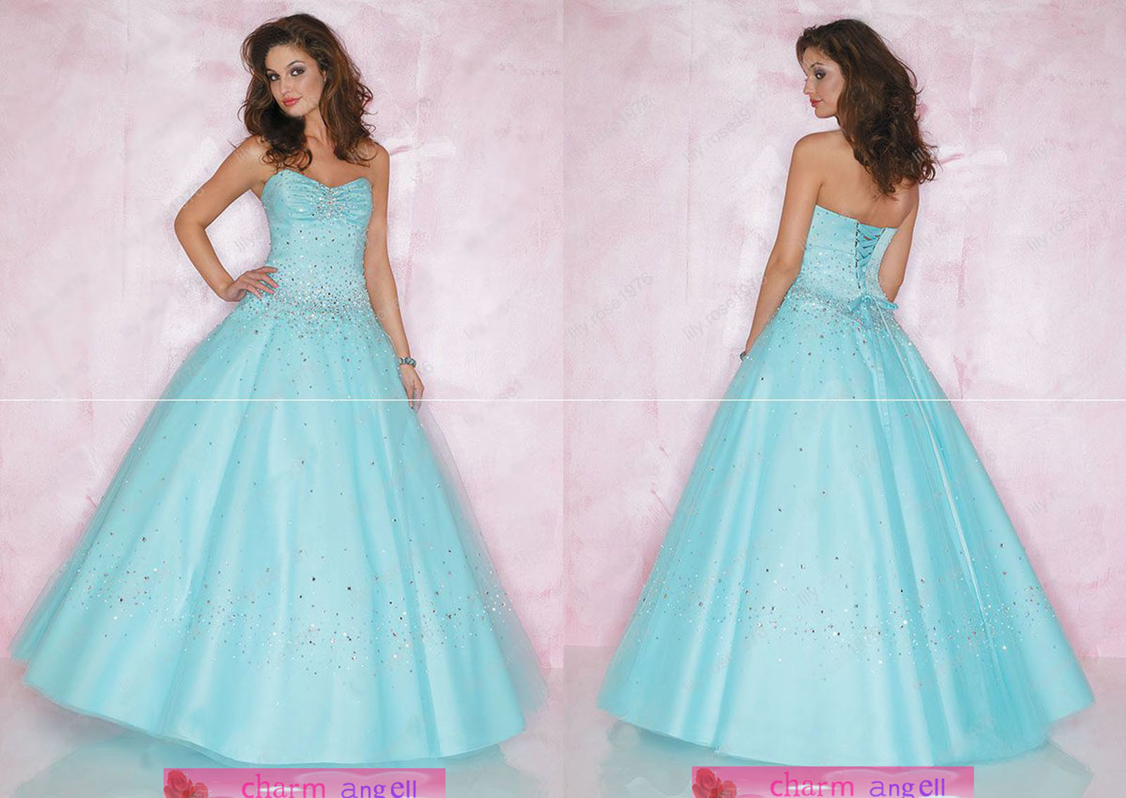 Prom dress style and colour help yahoo answers for Blue green wedding dress