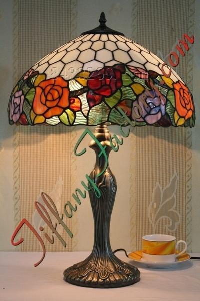china tiffany rose table lamp ls16t001439 t china tiffany lamp. Black Bedroom Furniture Sets. Home Design Ideas
