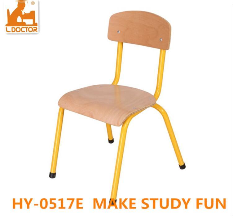 Wood Metal Kids School Chair for Classroom Studying