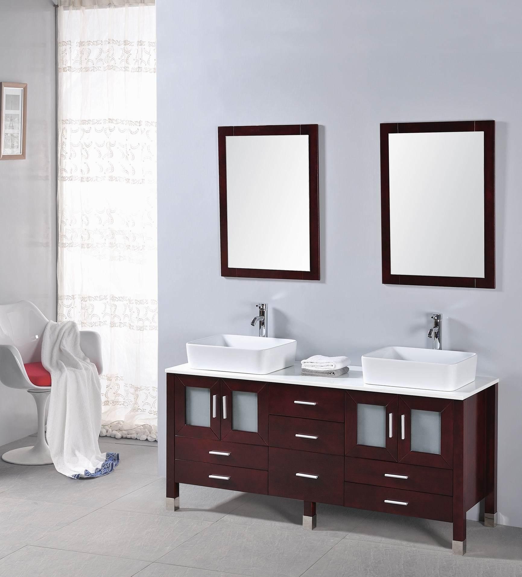 Elegant Bissonnet Casual Wallmount Vanity Base Cabinet