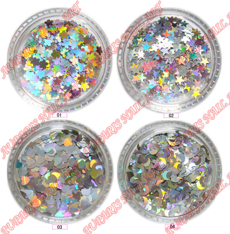 Glitter Flake Agf-84 (4 laser design) Professional Nail Art Supplies