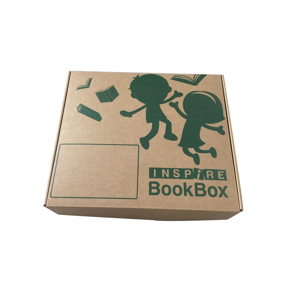 Custom Strong Cardboard Printing Box, Folding Corrugated Carton Box with Handle