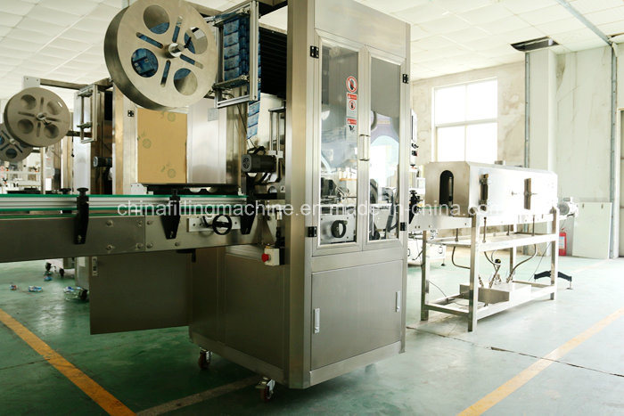 Automatic PVC Label Sleeving Thermal Shrinking Equipment