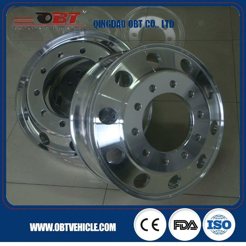 Heavy Truck Alloy Aluminum Wheel Rim 22.5X9.00 for Tyre 12r22.5