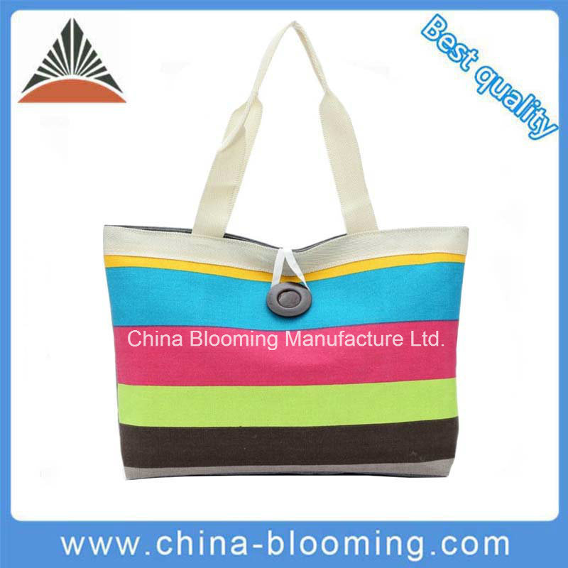 Canvas Lady Shopping Promotional Totes Carry Beach Shoulder Bag
