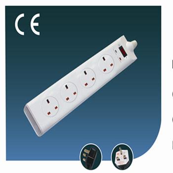 Four Ways Green Line British Socket Outlet