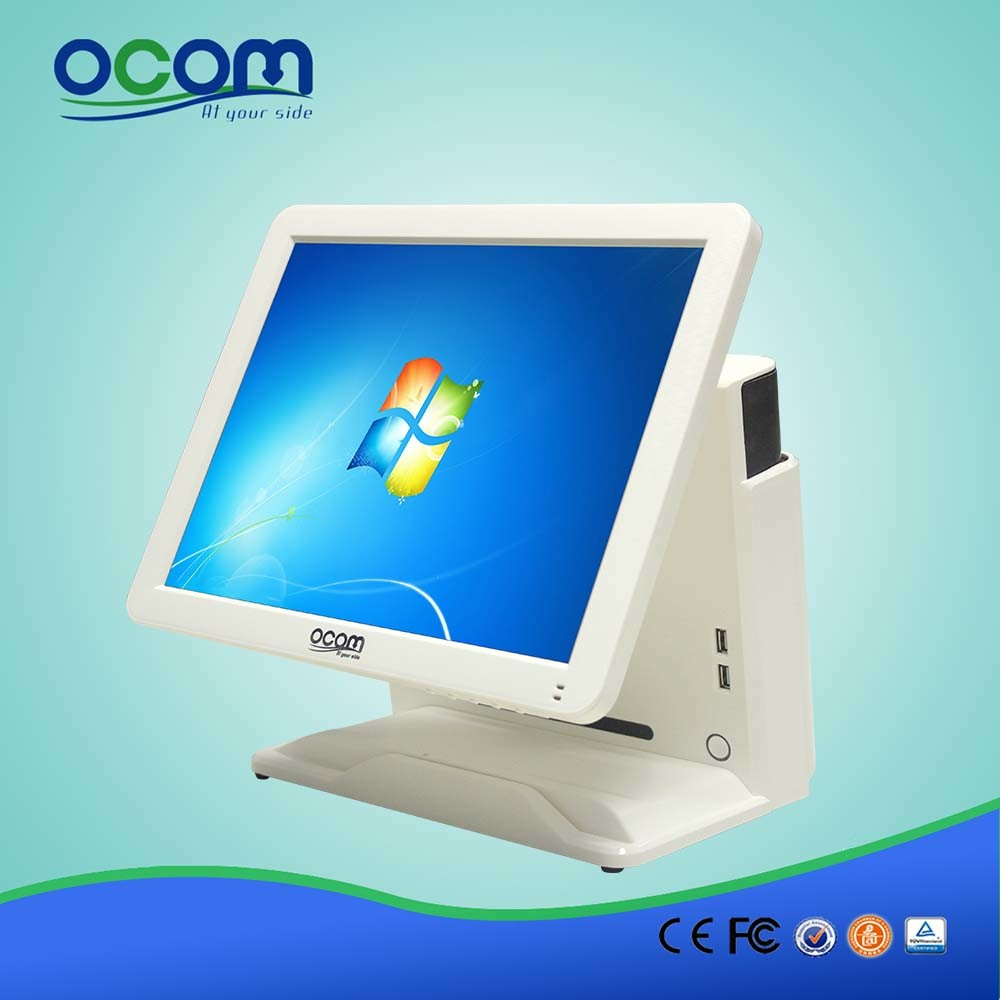 """(POS8618) 15"""" Dual Screen Touch Screen Monitor LCD Display All in One PC POS Terminal"""