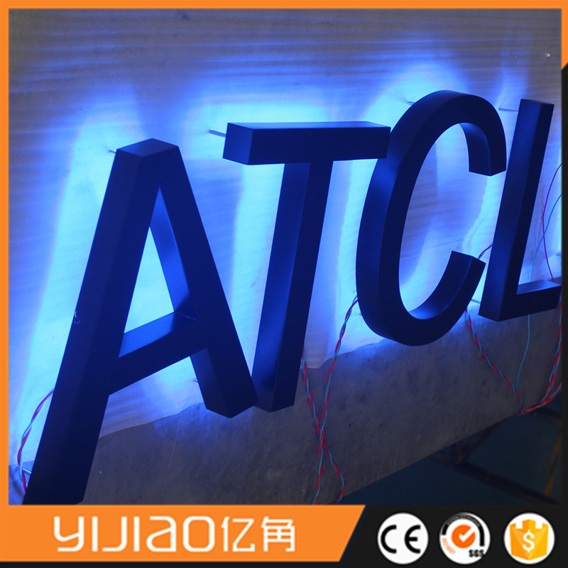 Back-Lit LED Stainless Steel Channel Letter