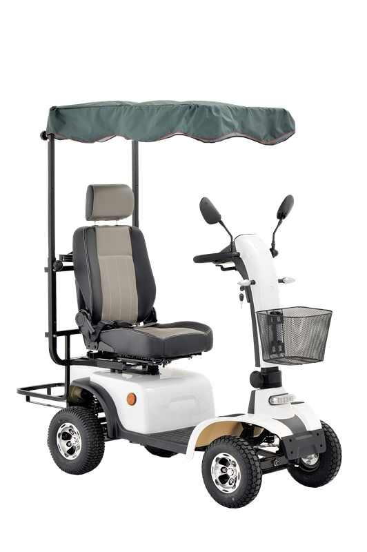 Four Wheels Electric Mobility Scooter with Golf Bag