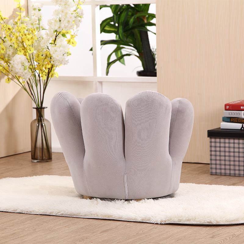 Velvet Fabric Finger Sofa with Wood Legs