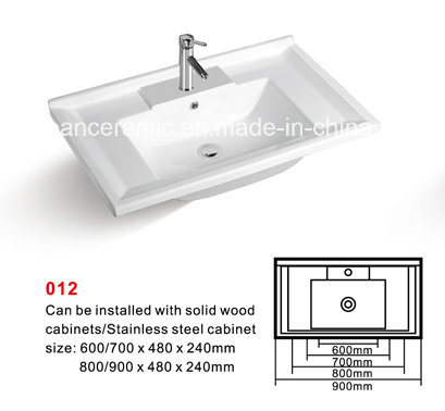 Cabinet Basin (No. 012) Ceramic Sink, Sanitary Ware