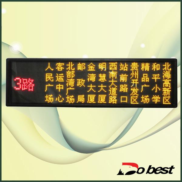 Bus LED Destination Message Sign