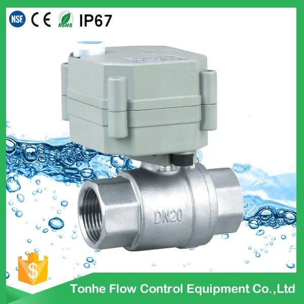2 Way NSF61 Ss304 Motorized Water Ball Valve for Drinking Water