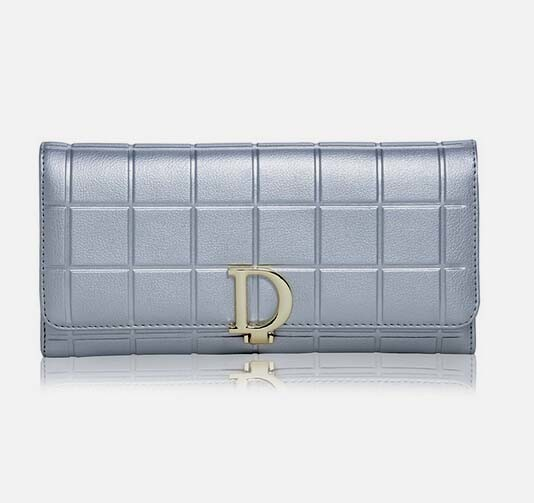 Fashion Genuine Leather Fashion D Buckle Wallet and Purse (XQ0683)