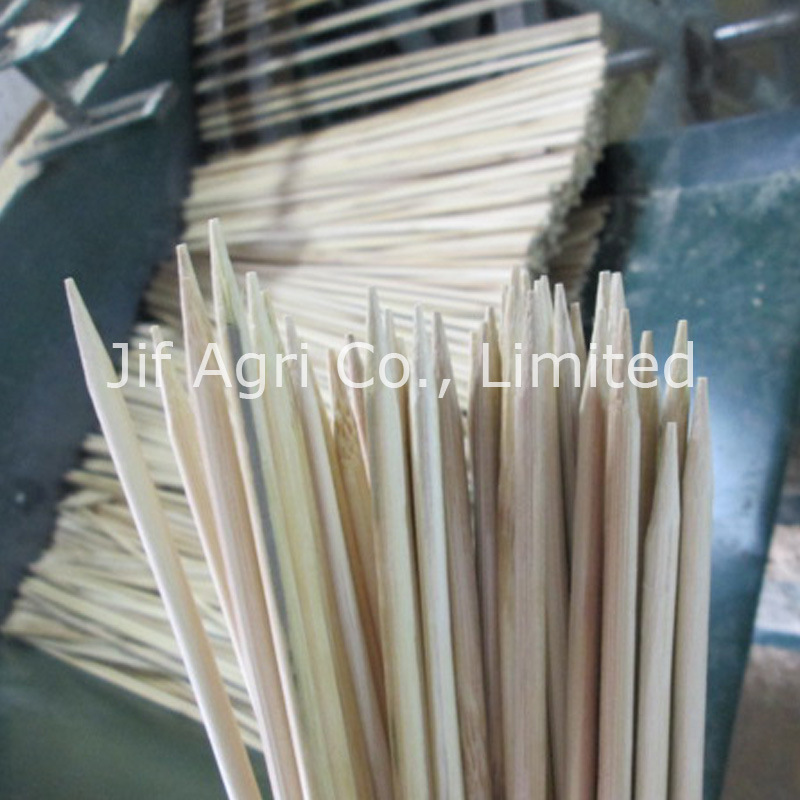 Natural Bamboo Stick  with Plastic Protect