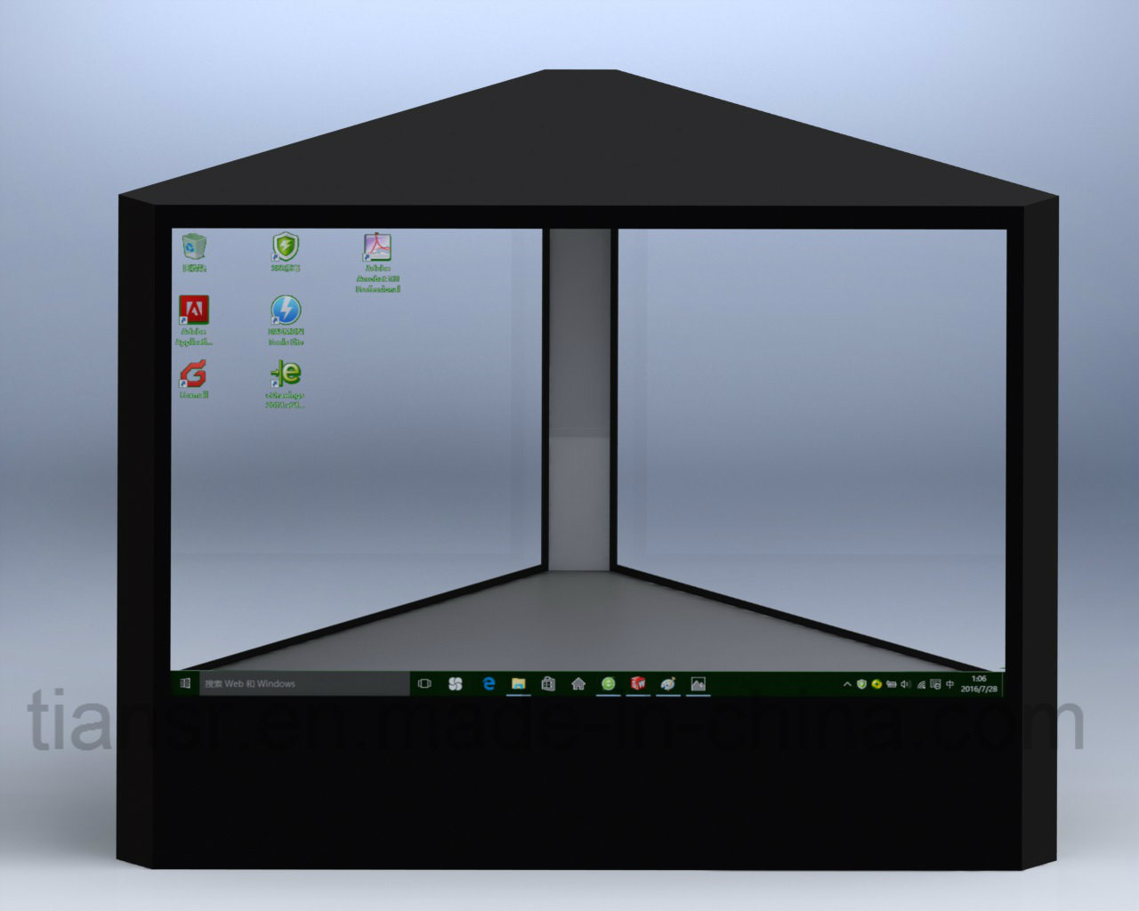 16inch Three Sides Transparent Display Stand with 360° Viewing Angle