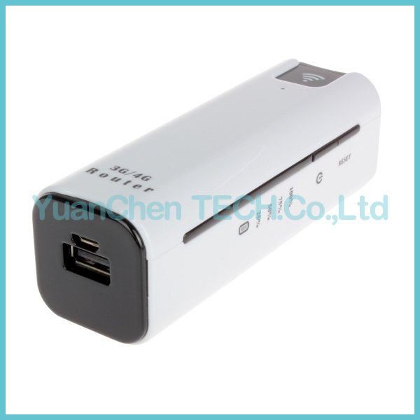 2200mAh Power Bank Extend Charger 3G WiFi Router Routeur with SIM TF Card Slot