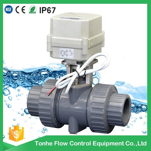 2 Way NSF Ce Plastic PVC UPVC Electric Water Motorized Motorised Actuator Ball Valve