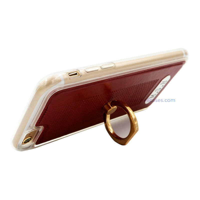 Good-Texture Leather Mobile Cover/Case with Ring Holder for Smart Phone
