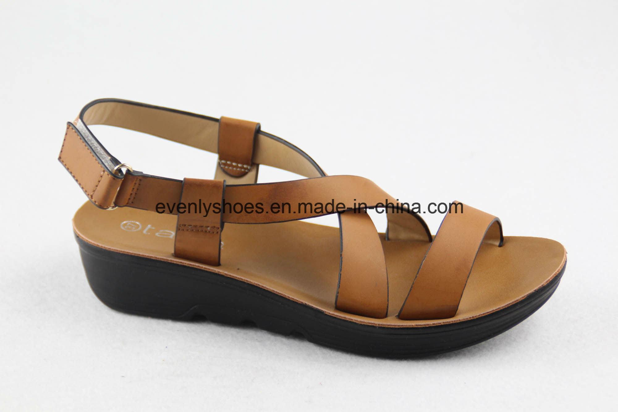 Cross Strap Design Women Shoes Flat Sandal for 2016
