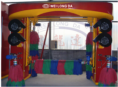 Gantry Type Reciprocating Car Wash Machine with 5 Brushes