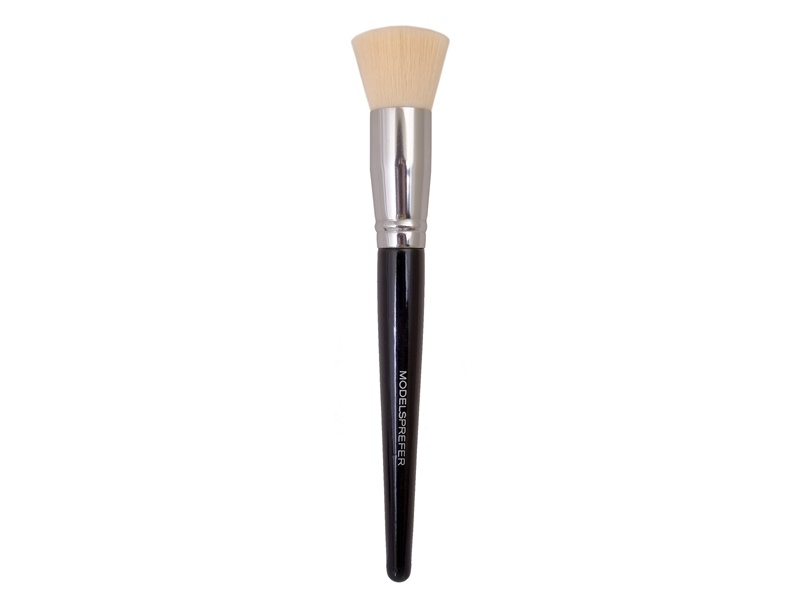 White Color Hair Flat Top Makeup Brush