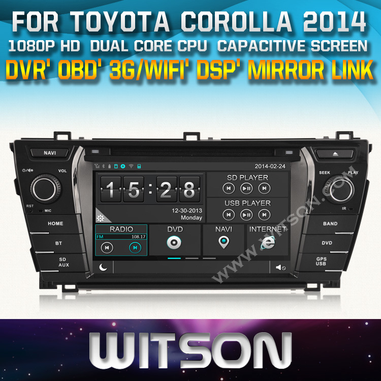 Witson Wince for Toyota Corolla 2014 Radio Navigitaon (W2-D8156T)