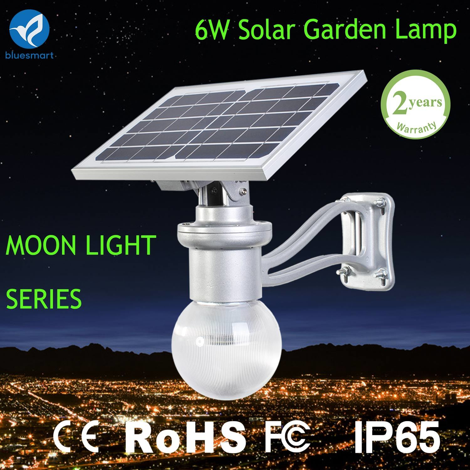 6W Solar LED Garden Lamp with Remote Control