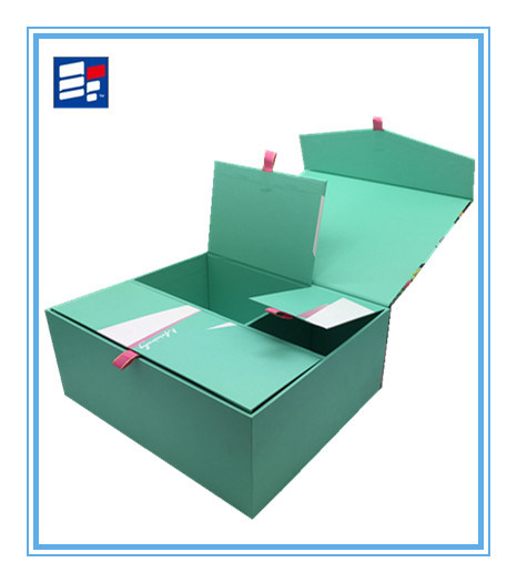 Custom Paper Gift Storage Box with Silk Handle