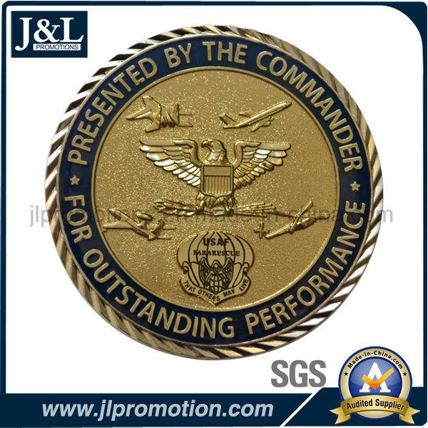 Die Struck Metal Challenge Coin with Diamond Cut Edge