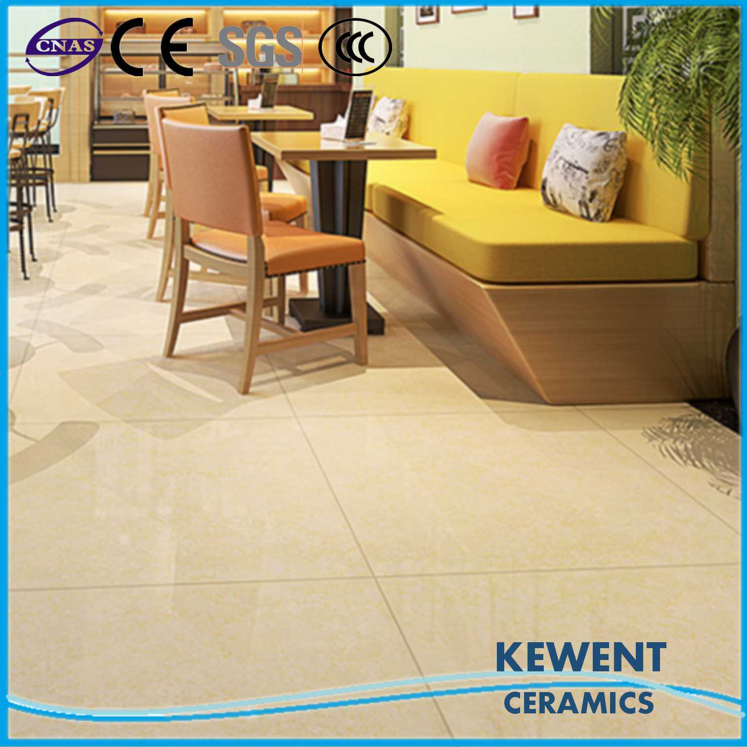 600*600mm Yellow Double Loading Tulip Barossa Series Polished Porcelain Floor Tile