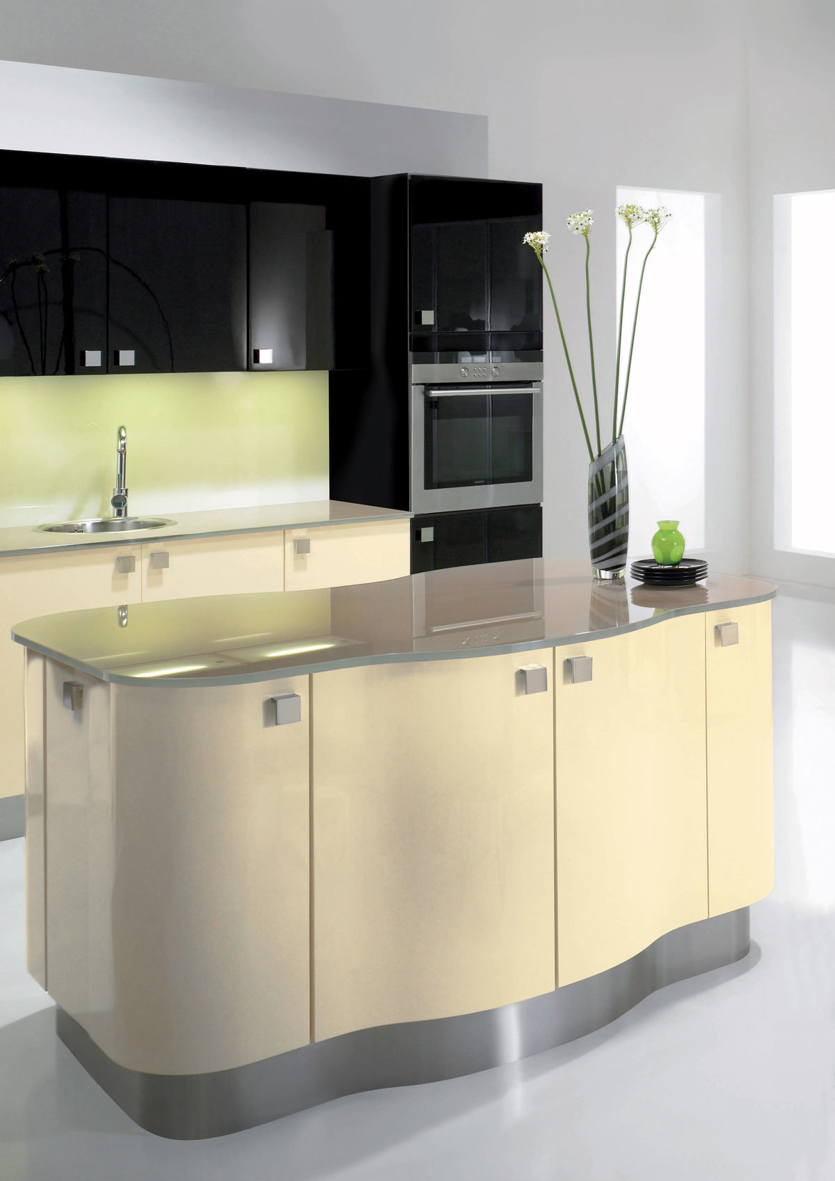 Fashion Kitchen Cabinet High Gloss Kitchen Cabinet Kitchen Furniture