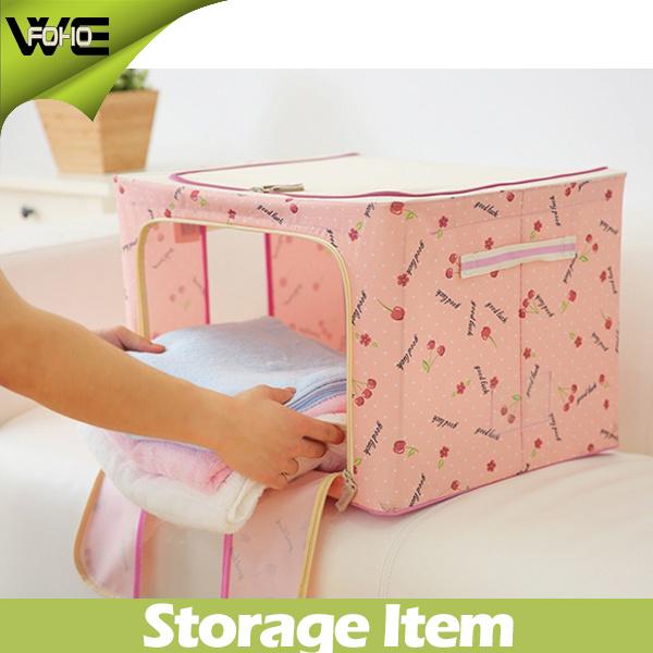 Collapsible Nonwoven Storage Bins Cabinet Foldable Storage Box