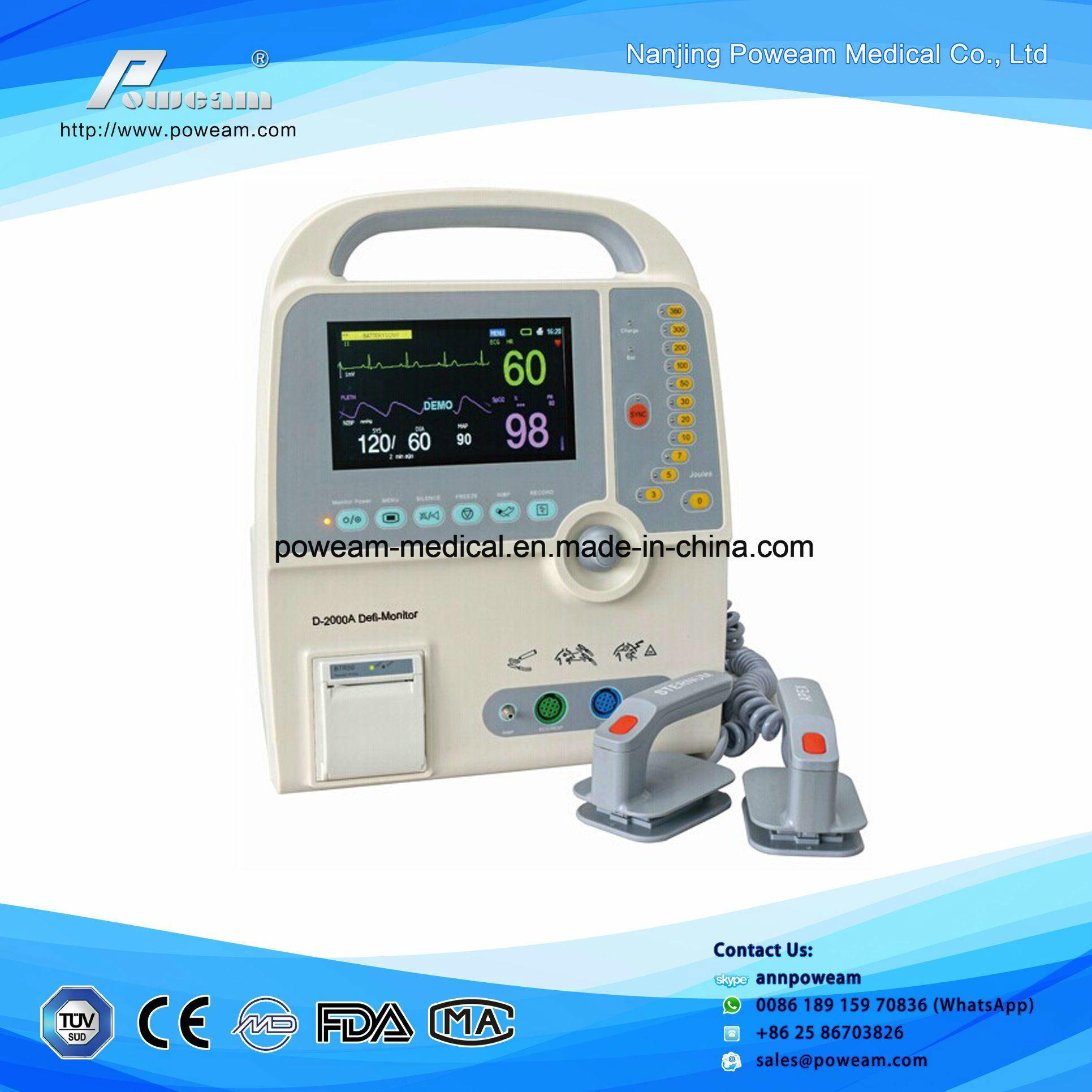 Veterinary Portable Biphasic Defibrillator Monitor (D2000A)