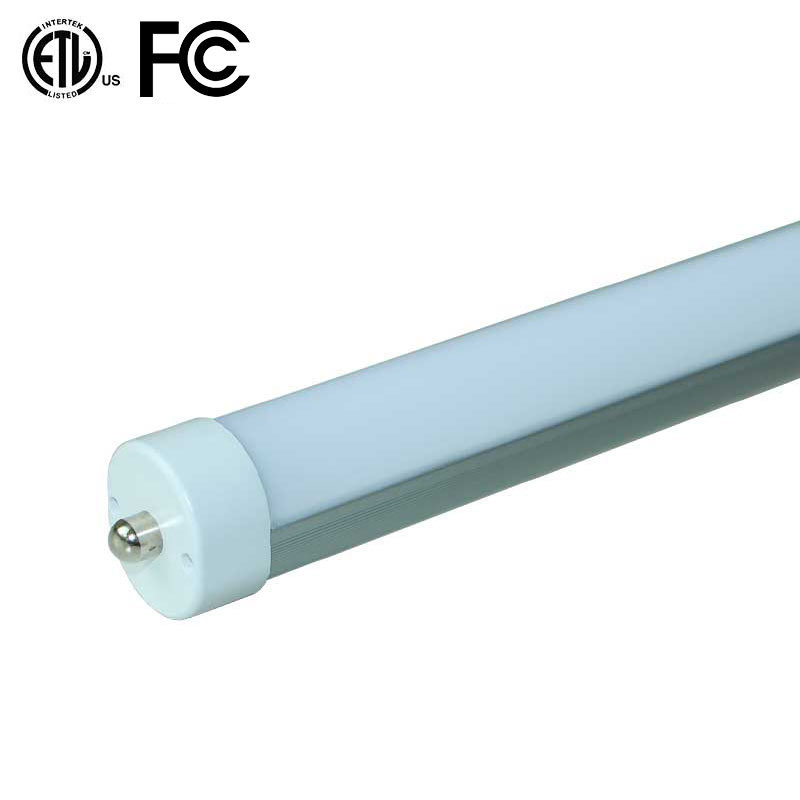 Type B, Plug and Play Play Electronic Ballast Compatible LED Tube Light From China Factory with ETL FCC Frosted 130lm/Watt