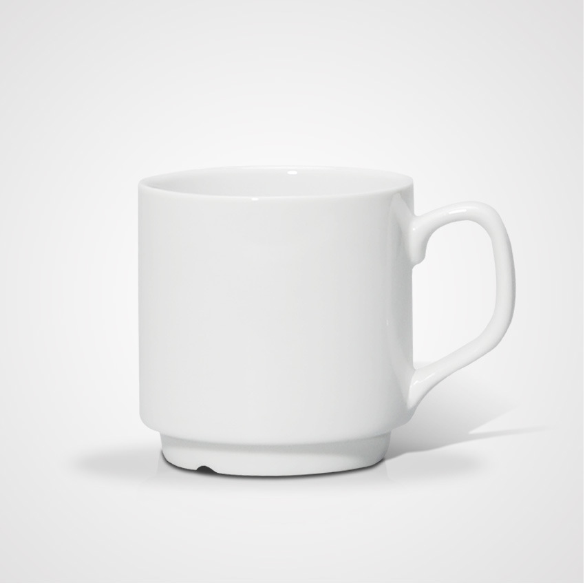 Hot Sale Porcelain Family Plain Mug with High Quality