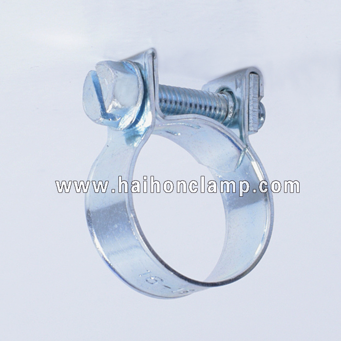 Galvanized Steel Mini Hose Clamp