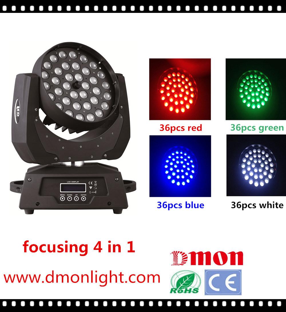 36*10W 4in1 LED Moving Head Light Focusing RGBW Light