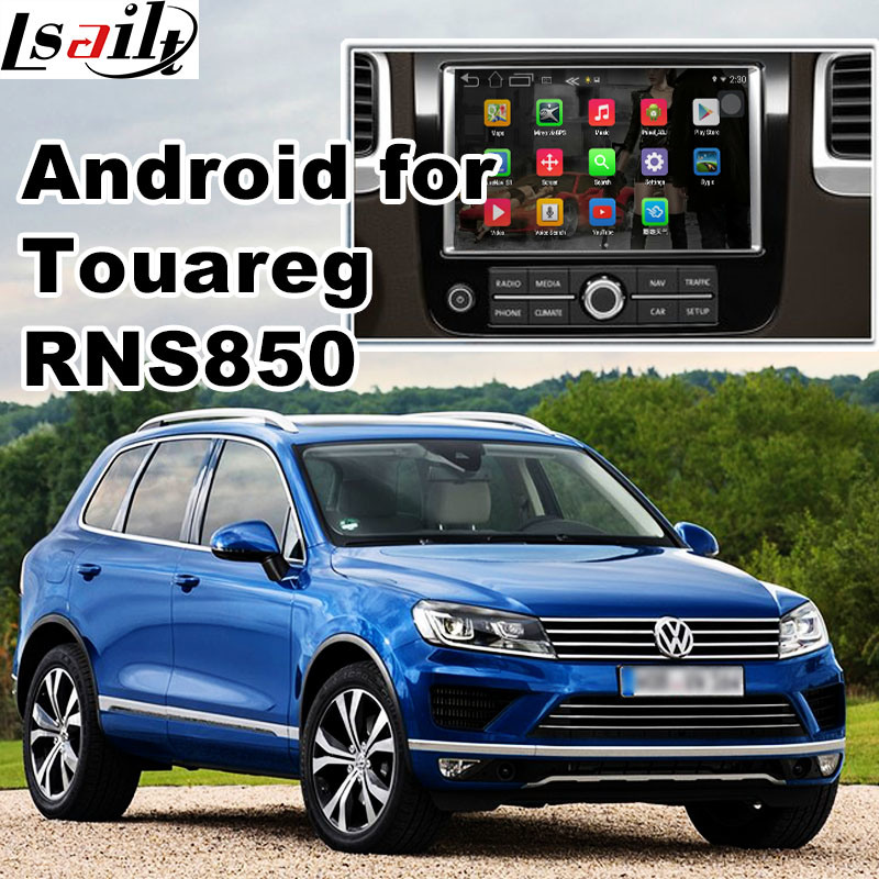 Android GPS Navigation Video Interface Box for VW Touareg Rns850 Mirror Link, Cast Screen, Voice Control