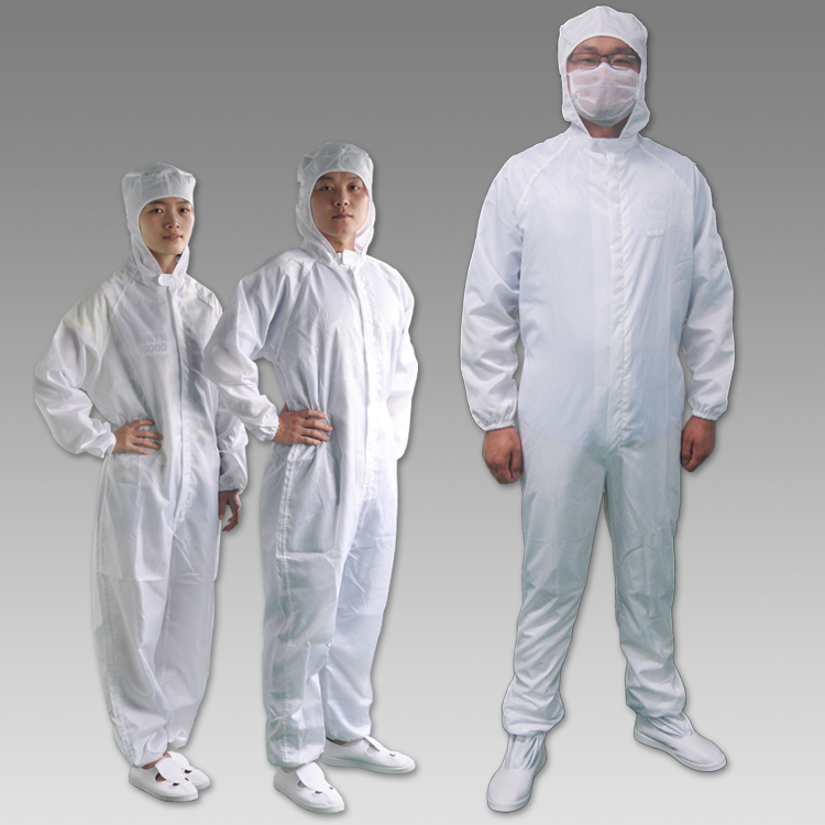 Working Clothes 5mm Grid Conductive Fiber ESD Coverall