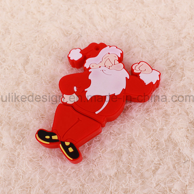 Christmas Promotion Gift USB Flash Drive (UL-PVC028)