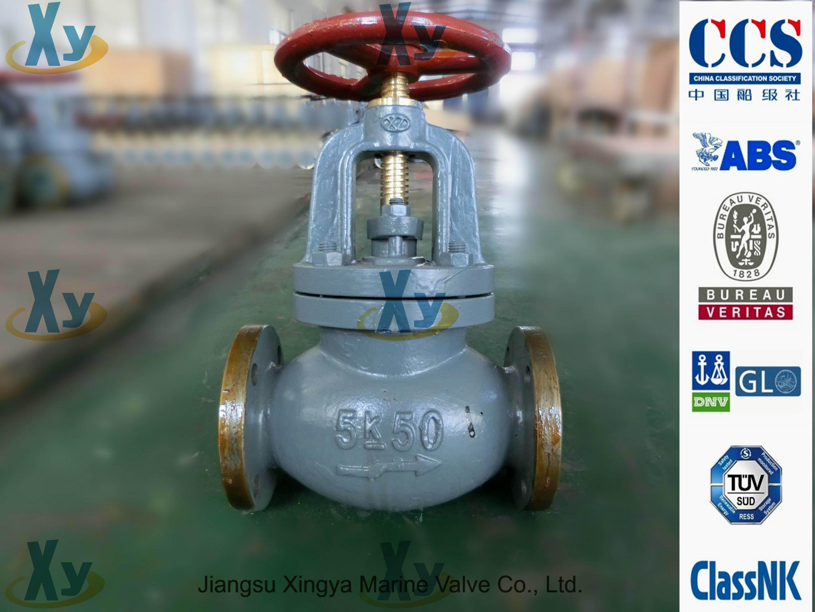Marine Cast Steel Globe Valve JIS F7313 20k