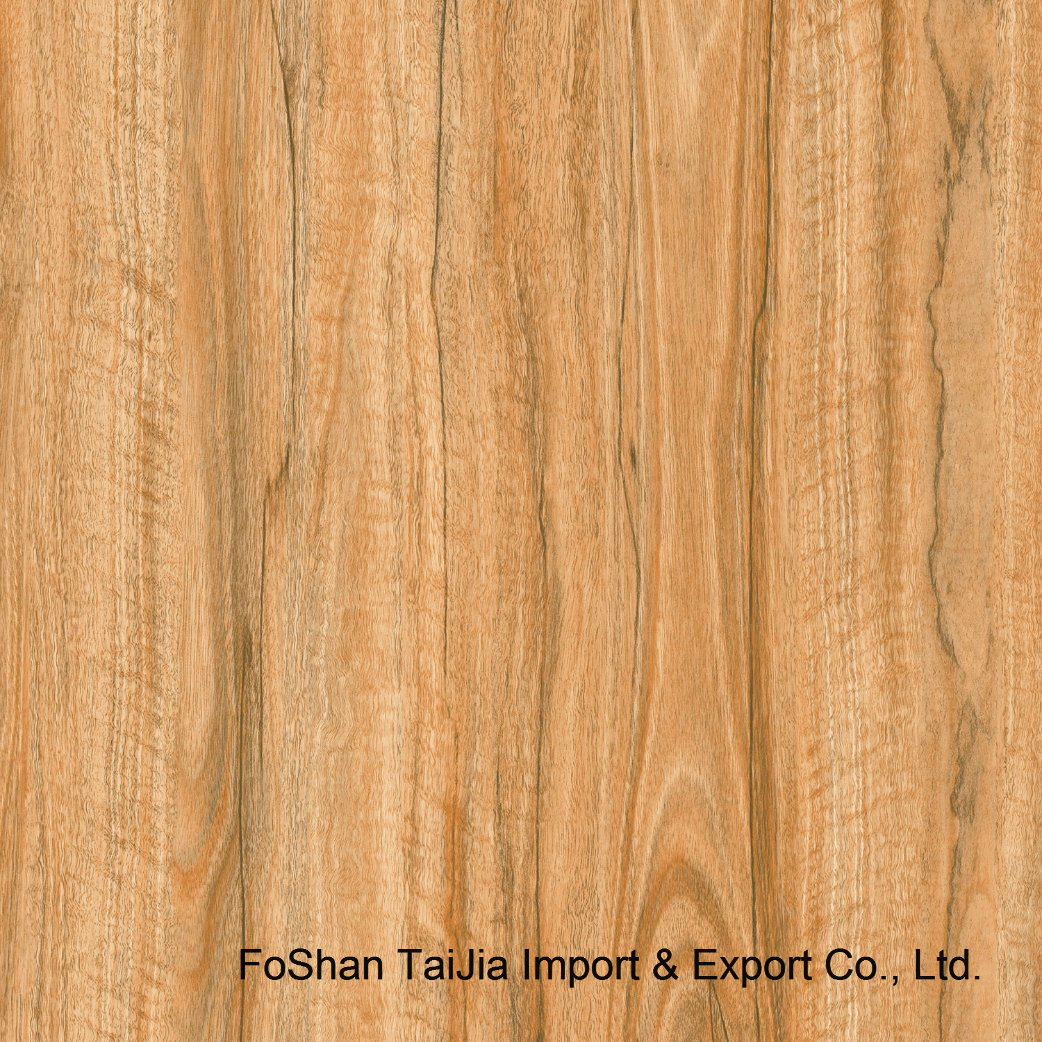 Building Material 600X600mm Wood Look Rustic Porcelain Floor Tile (TJ6803)